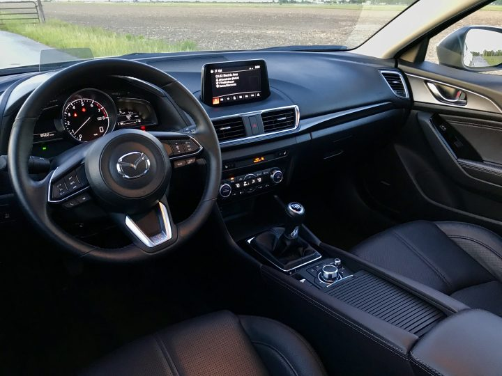 The welcoming interior of the 2017 Mazda 3 Hatchback.