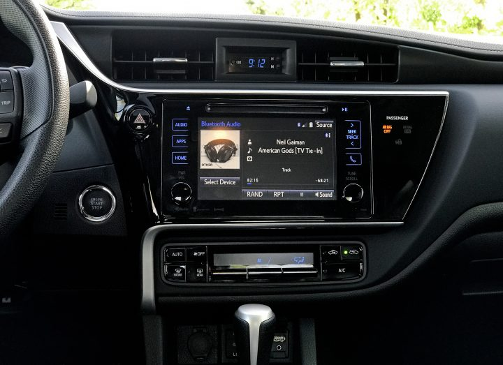 The Corolla offers a very capable infotainment system with voice control and Bluetooth.
