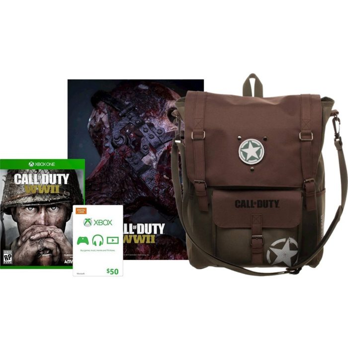 This special Call of Duty: WWII edition includes a backpack.
