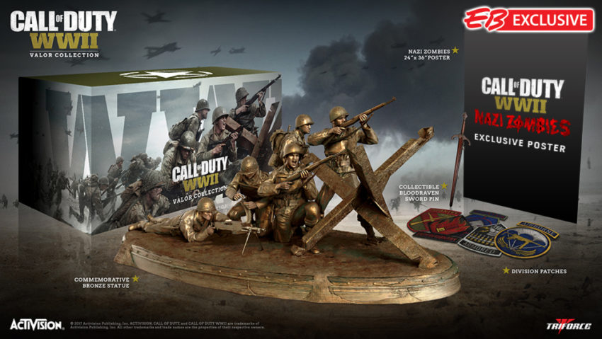 The special Call of Duty: WWII Valor Edition.
