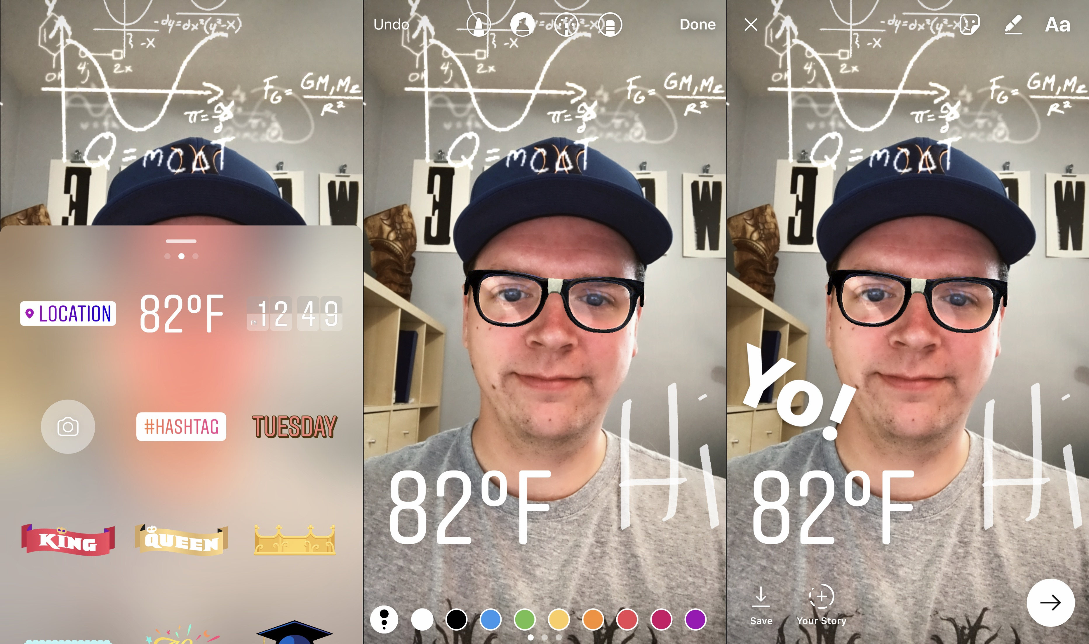 Add stickers, text and effects to your Instagram photos.