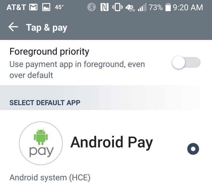 Use your LG G6 to make mobile payments.