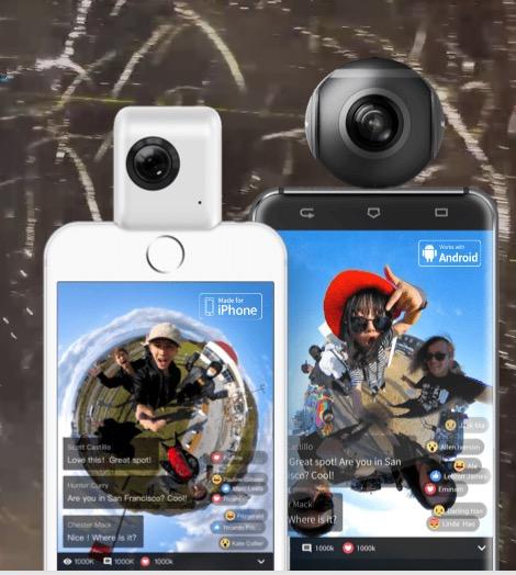 insta360 nano and insta360 air cameras