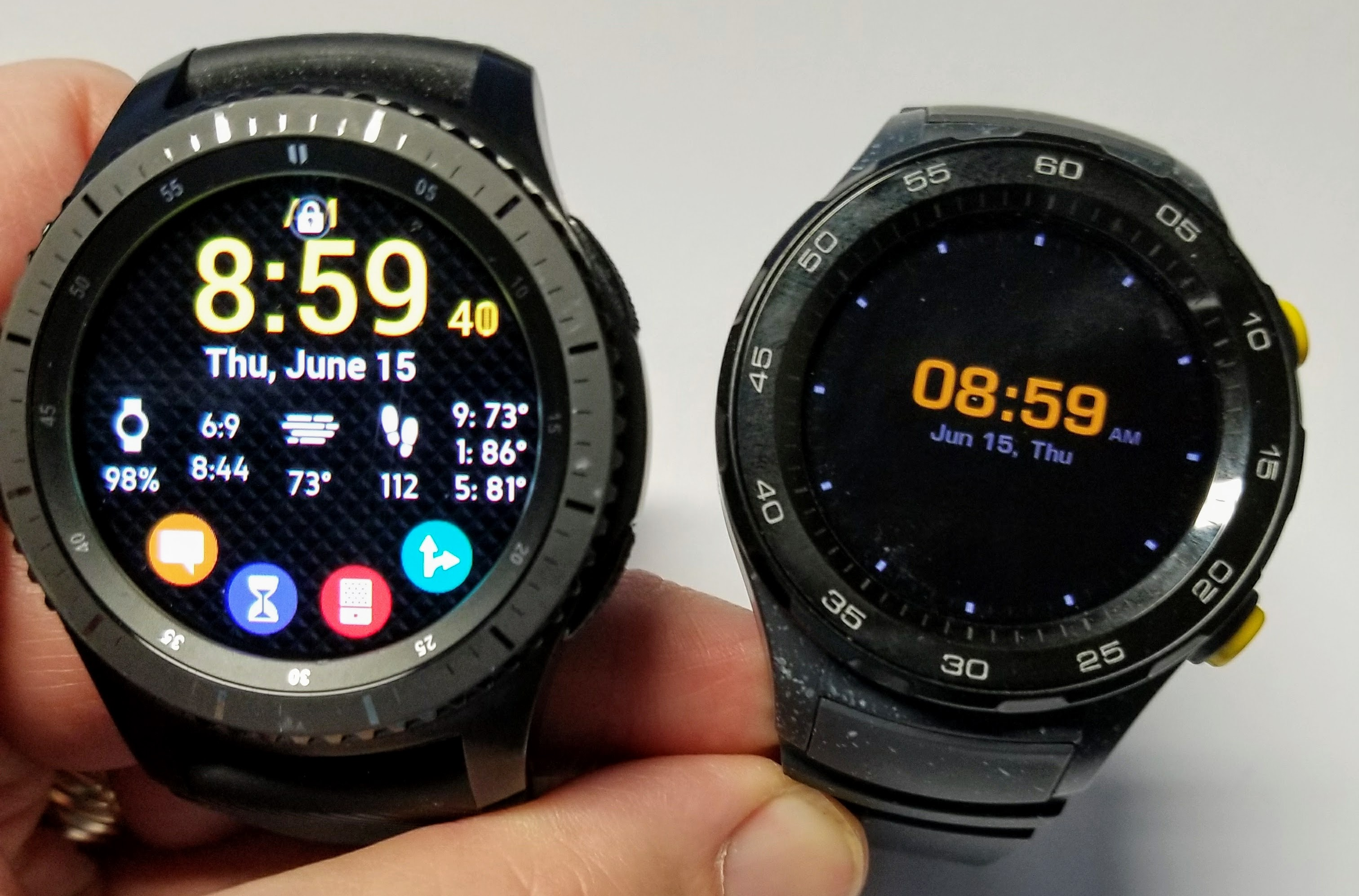 huawei watch 2 and samsung gear s3
