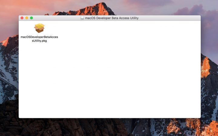 Install the macOS High Sierra beta profile.