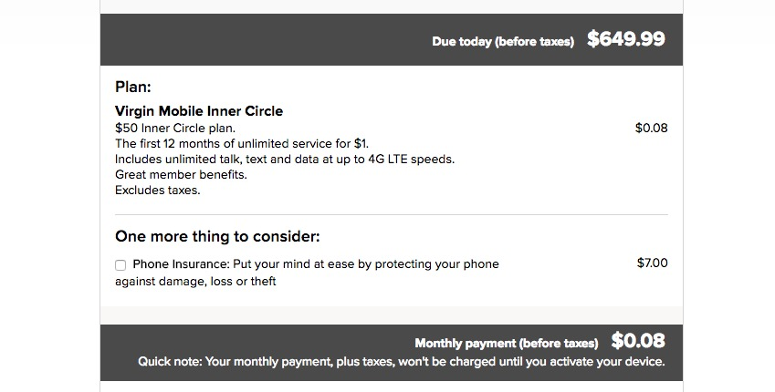 Pay 8 cents a month for cell phone service.