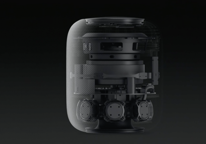 Apple HomePod speakers x-ray view