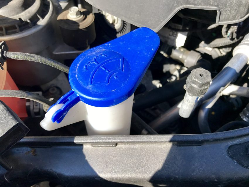 Check the washer fluid level and top off or change if needed.