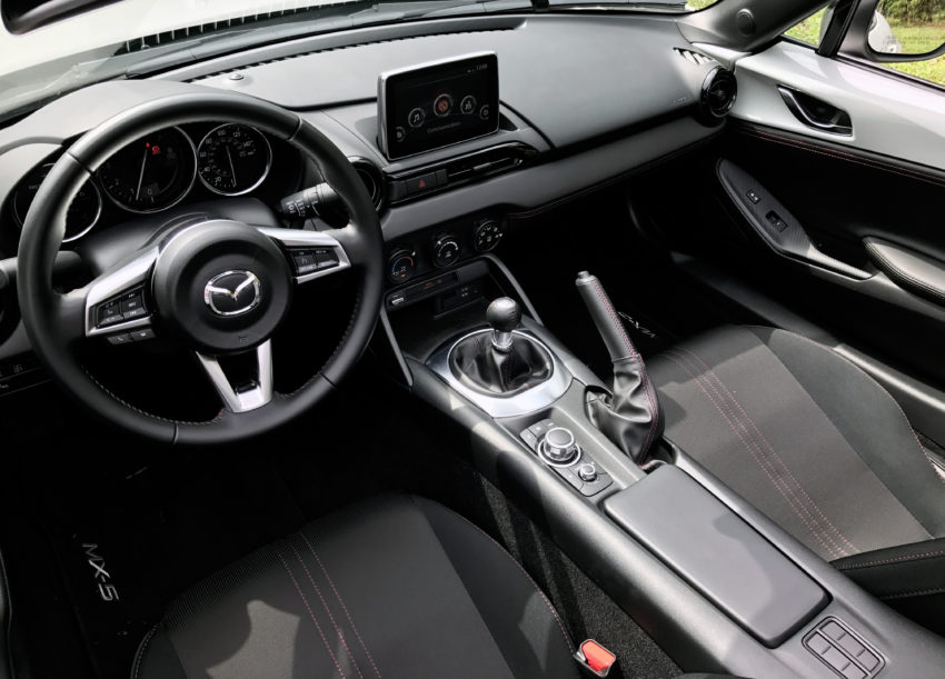 Fairly spartan, the MX-5 Miata RF interior has just about everything you need.
