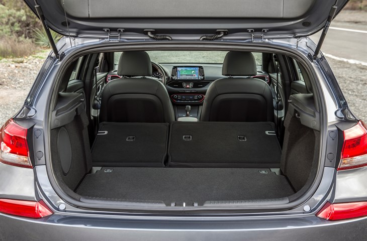 There's a lot of cargo room in the Elantra GT.