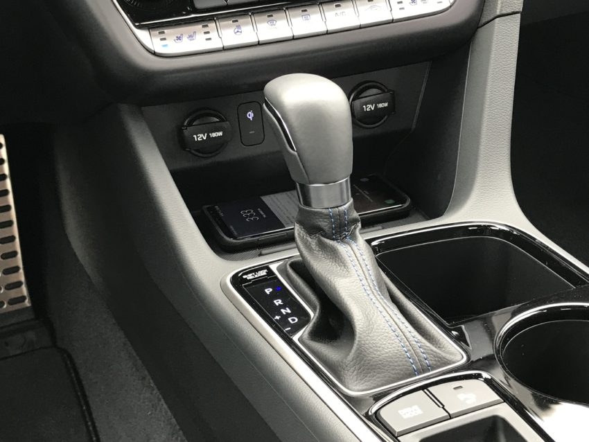 Wirelessly charge your phone in the new Sonata.