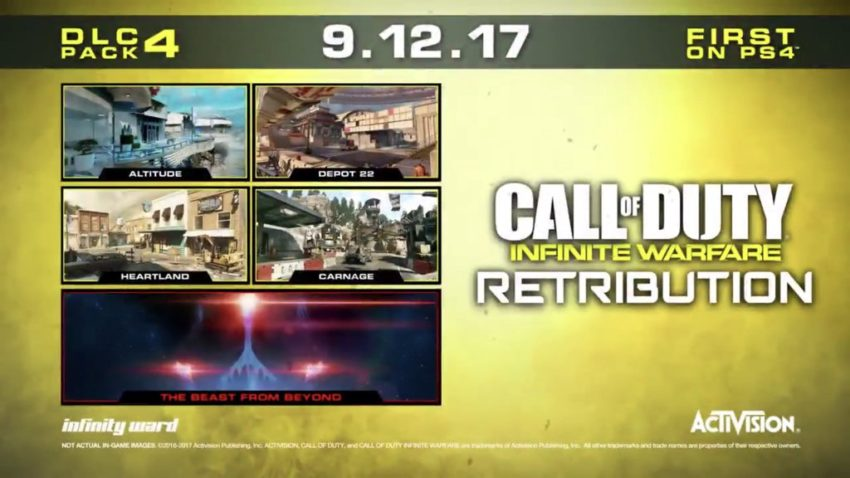 Retribution Infinite Warfare DLC 4 Release Date & Time