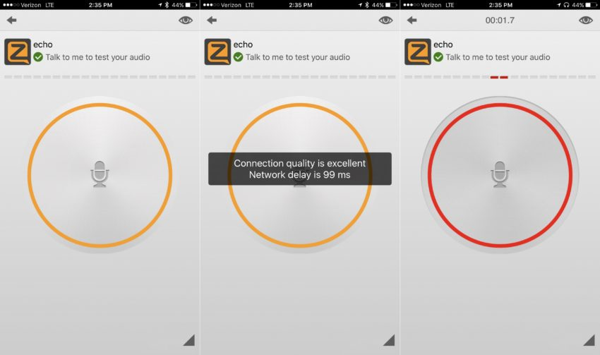 Push to talk to other people with the Zello Walkie Talkie app. You will need an internet connection of some kind.