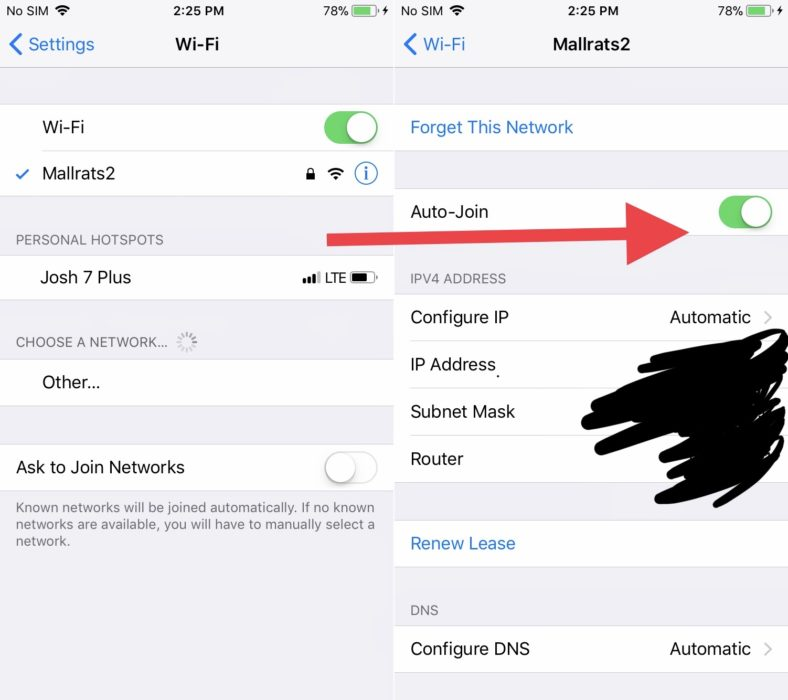 Stop Auto Joining WiFi Networks