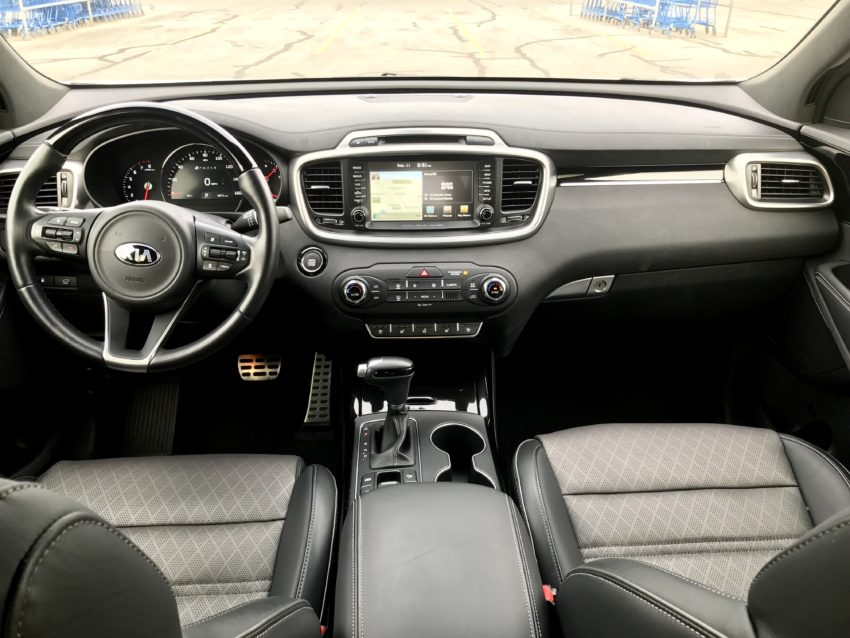 The front row is comfortable and you have easy access to controls.
