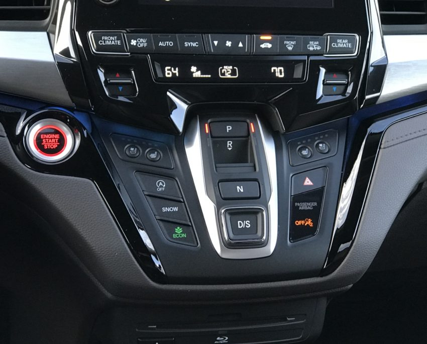 Honda uses buttons instead of a shifter.