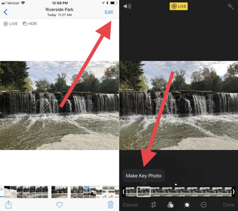 Change the default photo in your Live Photo in iOS 11.