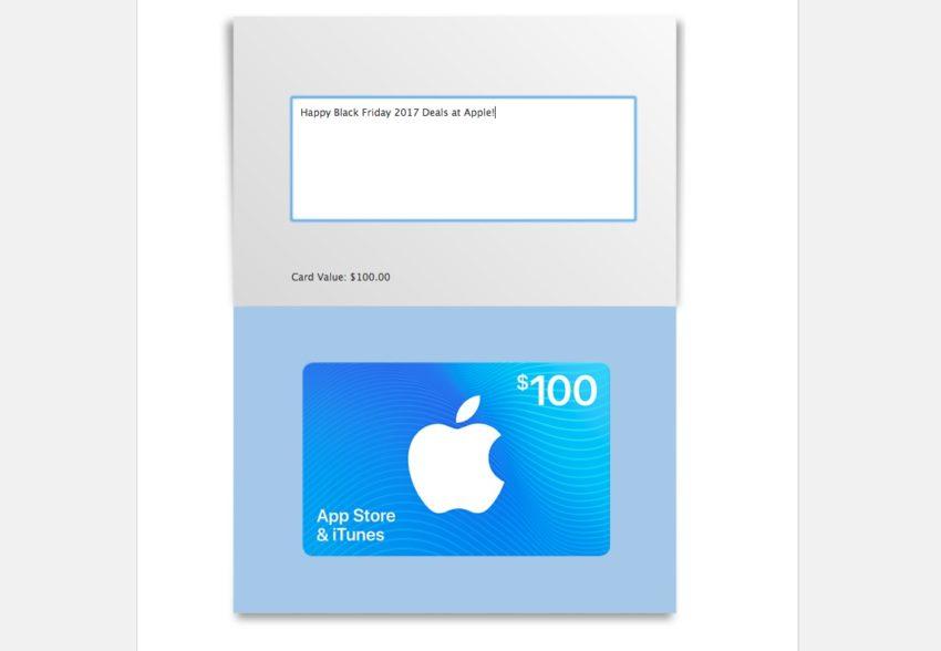 iTunes Gift Card Black Friday 2017 Deals