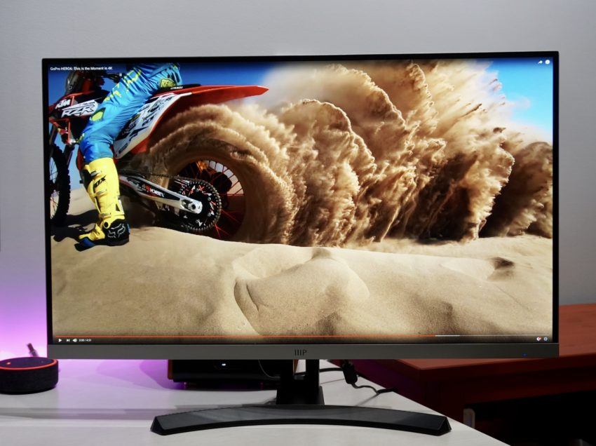 The 27-inch 4K Monoprice monitor looks great out of the box.