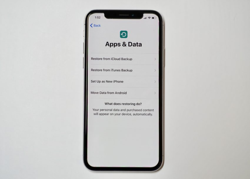 How to restore your old iPhone to the iPhone X.
