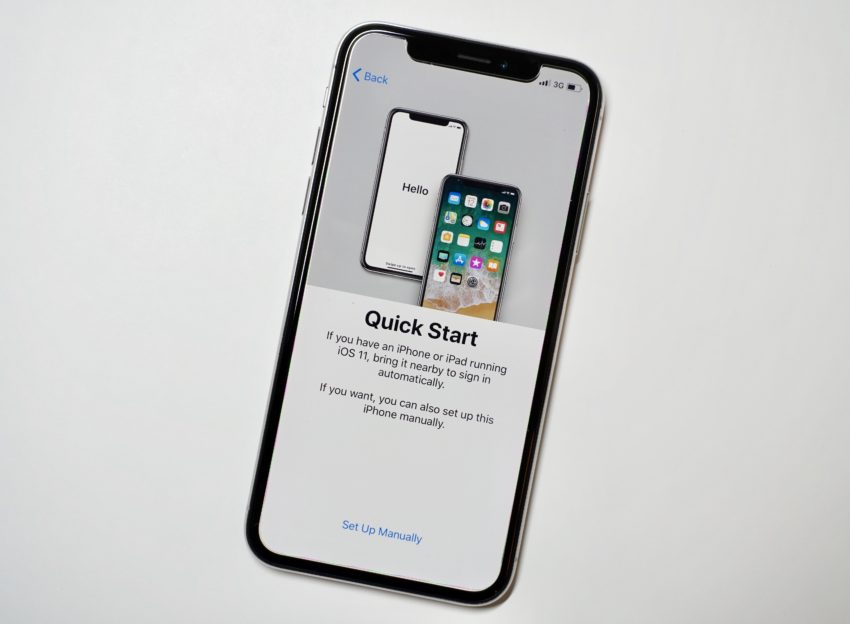 You can streamline much of the process by using a new iOS 11 setup option.