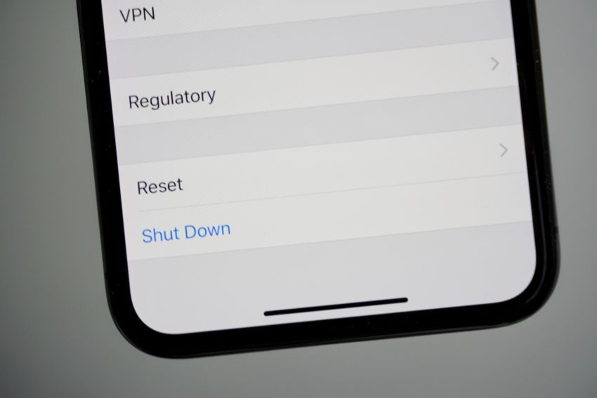 You can also use the settings screen to turn your iPhone X off.