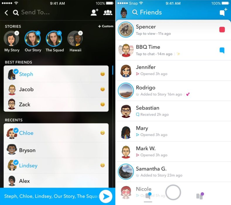 The new Snapchat is focused on making your Friends front and center.
