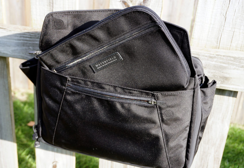The Air Caddy has room for your iPad or Kindle and other essentials during your flight.