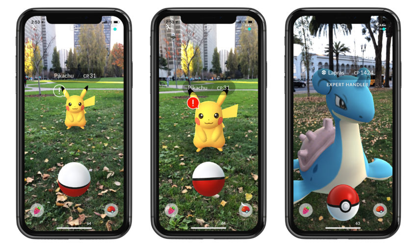 New Pokémon Go AR+ features are only available for iPhone.