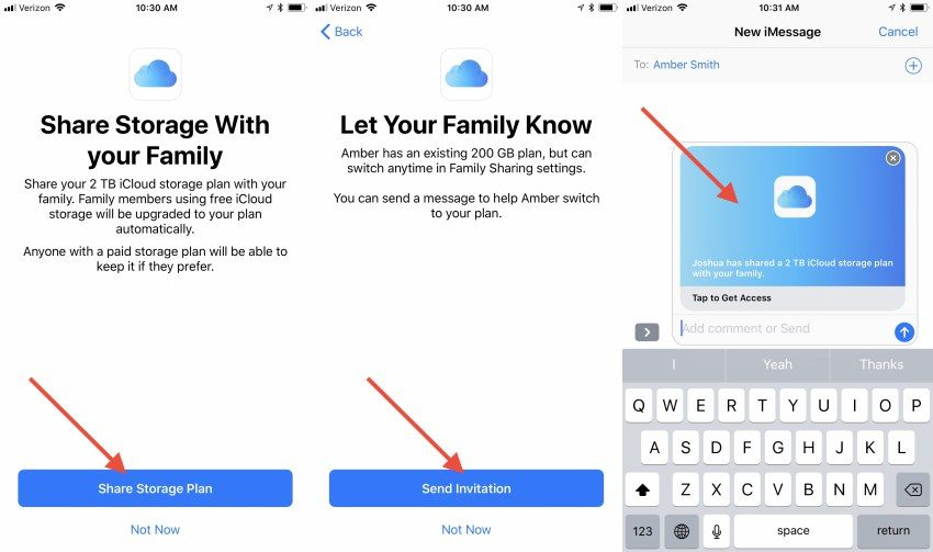 Share iCloud Storage With Your Family