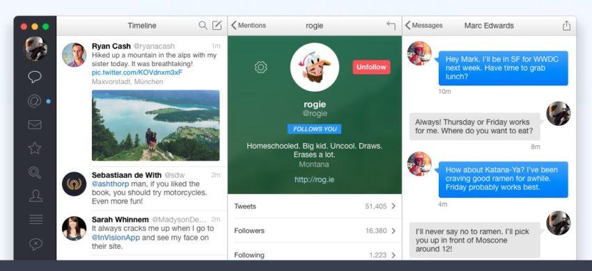 Tweetbot for Mac is the best Mac Twitter app.