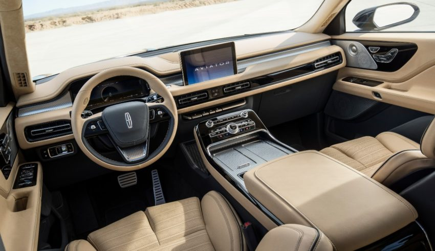 An impressively upscale interior.