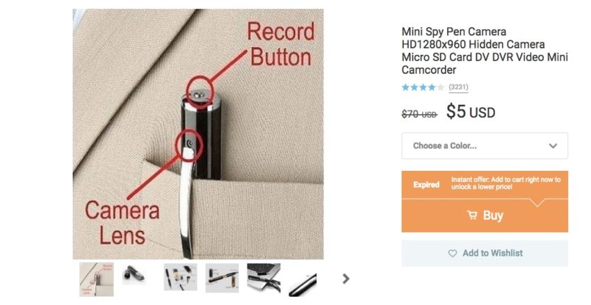 $5 Spy Pen