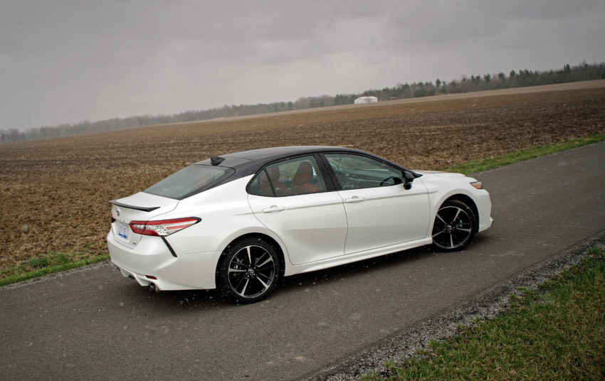 The 2018 Camry XSE is fun to drive thanks to a 3.5L V6 and a sportier suspension.