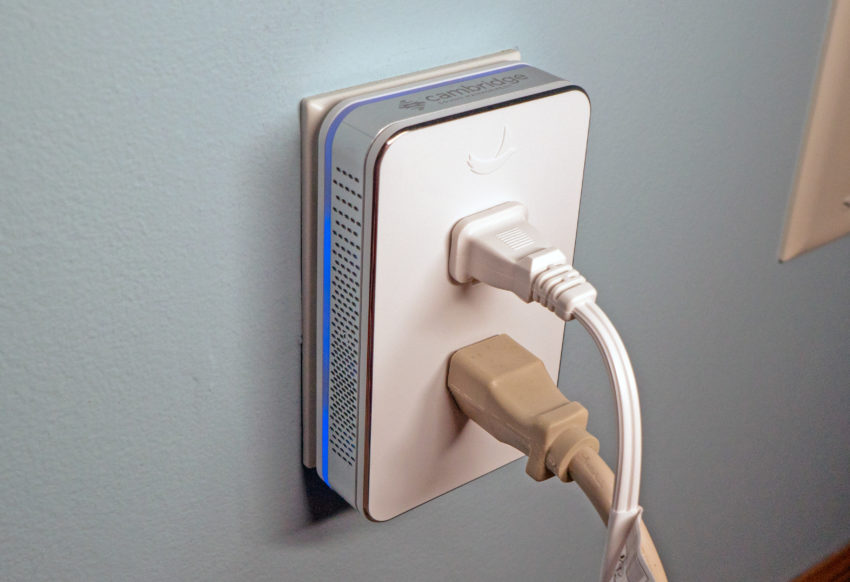 You keep all your outlets and you can even use them as a light.