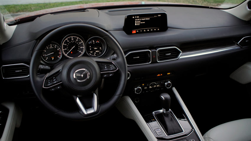 The 2018 CX-5 interior is beautiful and upscale for the price.