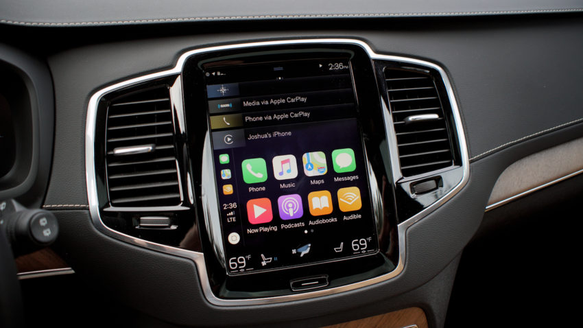 The Volvo XC90 tech is top notch including infotainment and safety.