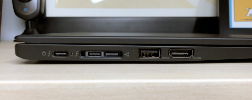 A full complement of useful ports for business users.