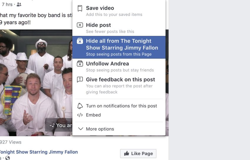 How to stop seeing posts form a specific page, even when a friend shares it on Facebook.
