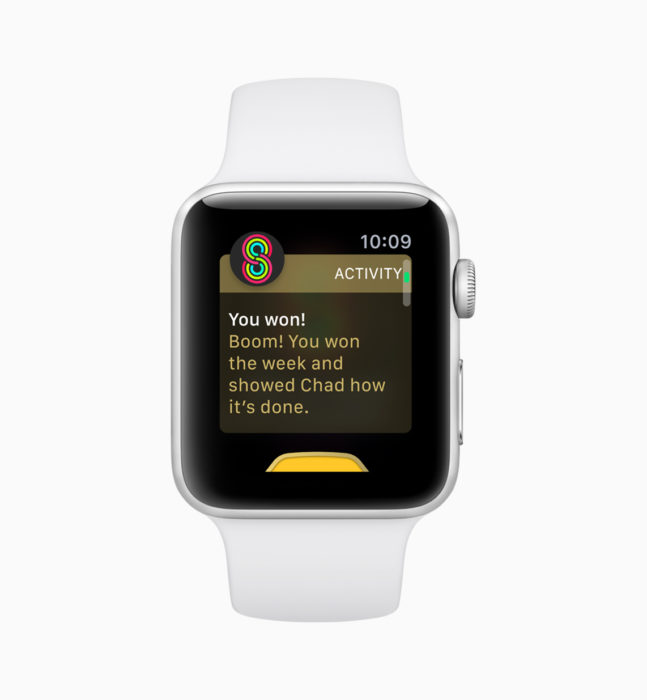 Compete with friends on watchOS 5.