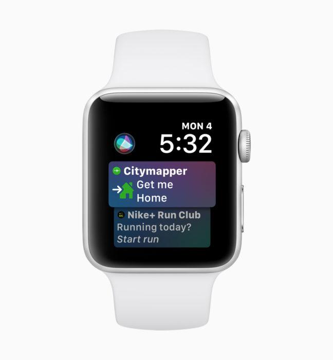 Enjoy an upgraded Siri watchface on watchOS 5.