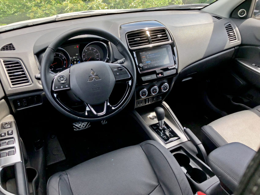 The Outlander Sport interior features a redesigned center console for 2018.