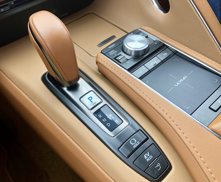 This touchpad is how you control the infotainment system.