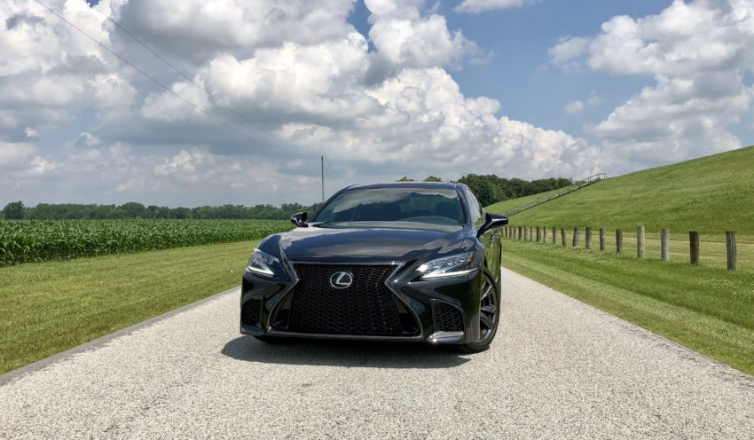 The LS 500 F Sport looks bolder, but doesn't pack a performance punch with the F Sport badge.