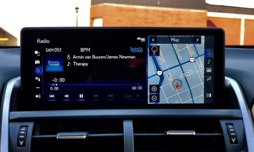 The bigger screen looks nice, but controlling with the touchpad is distracting while driving.