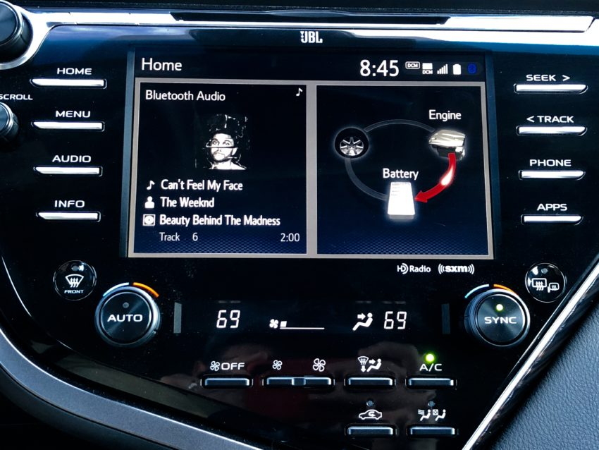 The Entune 3.0 system is good, but lacks CarPlay and Android Auto.
