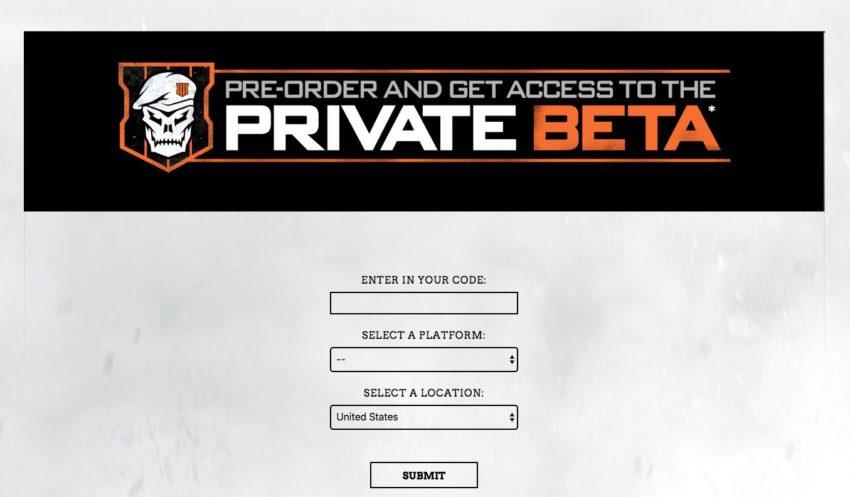 Asegúrese de registrar su código beta de Call of Duty: Black Ops 4, para que pueda obtener su token.