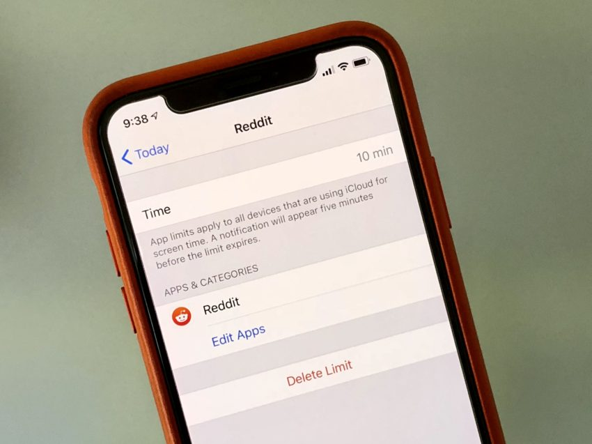 Set an App Time Limit with Screen Time.