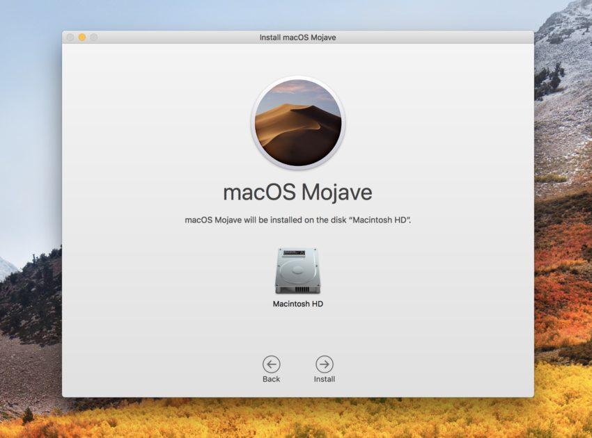 Fix macOS Mojave installation problems.