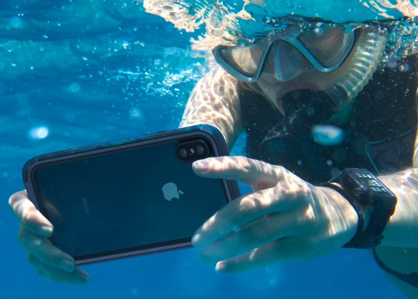 This is a waterproof iPhone XS Max case that lets you take your iPhone deeper and stay under longer.